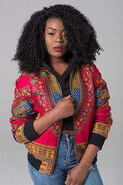 Discount dashiki jackets DARSJUCBD 2018 Sexy Indie Folk Womens Jacket Coat Dashiki African Printed Bomber Jacket Autumn New