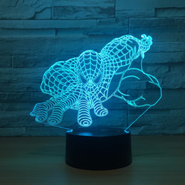 wedding candle cup 2019 - spider man 3D Optical Illusion Lamp Night Light DC 5V USB Powered 5th Battery Wholesale Dropshipping Free Shipping disco