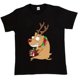Red Noses NZ - Naughty Red Nose Rudolph Steals Christmas Presents Funny Mens T-Shirt