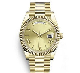 $enCountryForm.capitalKeyWord NZ - Luxury mens DAYDATE 40 mm Mechanical Crown Watch Gold Men High Quality President Sapphire Original Clasp Watches Roma Dial Wristwatches