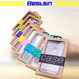 Retail packaging foR cell phone cases online shopping - Bestsin Colorful Personality Design Luxury PVC Window Packaging Retail Package Paper Box for Cell Phone Case Gift Pack Accessories