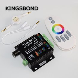 $enCountryForm.capitalKeyWord NZ - Music2 Controller Led RGB Music Controller RF Remote Intelligent Sonic Sensitivity Led Backlight Remote Free Shipping