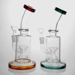 Discount pipe bong tube - Glass Bong Water Pipes 14mm Bowl Perc Bongs Heady Pipe Oil Rigs Glass Bubbler Hookahs Tube Bong