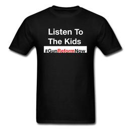 $enCountryForm.capitalKeyWord Australia - Birthday Tops T Shirt Classic Short Sleeve Men T-shirts Thanksgiving Day Clothing Gun Control Shirt Listen To The Kids Anti Gun Tshirt