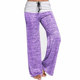 Plus Size Yoga Pants UK - Women Yoga Pants Sports Exercise Fitness Running Jogging Trousers plus Size Wide Leg Plus Size Workout Sport Pants