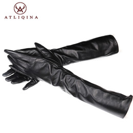 $enCountryForm.capitalKeyWord NZ - Atliqina long leather gloves women winter fashion touch screen gloves autumn Italian black glove female mittens genuine leather