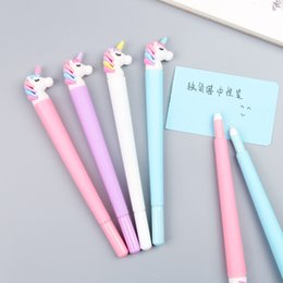 $enCountryForm.capitalKeyWord Canada - 5ps Korean Cartoon Unicorn Gel Pen Student Writing Neutral Pen Office Girl Heart Black Kids School Supplies Stationery Wholesale