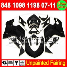 Unpainted Fairings Australia - 8Gifts Unpainted Full Fairing Kit For DUCATI 848 1098 1198 07-11 1098S 1198S 07 08 09 10 11 2007 2008 2009 2010 2011 Fairings Bodywork Body