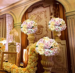 $enCountryForm.capitalKeyWord UK - 10pcs lot 30cm wedding artificial flowers ball for table center or road lead stage backdrop flore decorations