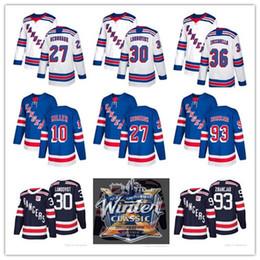 2018 Winter Classic New York Rangers Jerseys 27 Ryan McDonagh 30 Henrik  Lundqvist Mats Zuccarello Kevin Shattenkirk Hockey jerseys 6ca9e8d07