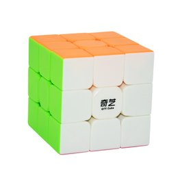 Chinese  2018 QiYi 56mm 3x3x3 Professional Magic Cube stickerless Puzzle Speed cubo magico Fidget Learning Educational Toys for Children manufacturers