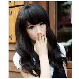 long wavy hair pictures NZ - New Fashion Long Wig Hair Beautiful Black Wavy Curly Wig >>>>>Free shipping New High Quality Fashion Picture wig