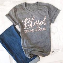 $enCountryForm.capitalKeyWord NZ - Blessed Beyond Measure T-Shirt gray women fashion funny slogan Christian tops letter print vintage grunge tumblr tees art tshirt
