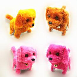 plush walking dog electronic barking 2019 - Electronic Dogs Kids Children Interactive Electronic Pets Doll Plush Neck Bell Walking Barking Electronic Dog Toy Christ