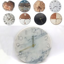 Round digital wall clock online shopping - Retro DIY Wooden Wall Clock Round Digital Table Clock Creative Art Alarm Clock Home Office Decoration For Xmas Christmas Gift WX9