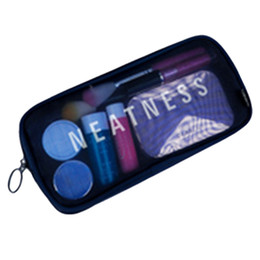travel toiletry bag ladies UK - HIPSTEEN Transparent Waterproof Cosmetic Bag Clear Travel Bath Makeup Storage Pouch Bags Ladies Make Up Toiletry Bag