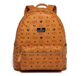 Chinese  2017 NEW Top Quality korean PVC leather backpack for Men Women sprots school backpack bags Punk Rivets backpacks Middle Size spree worthy manufacturers