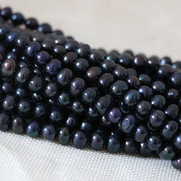$enCountryForm.capitalKeyWord Canada - DIY semi-finished products 7-8mm black natural pearl beads freshwater cultured 14inches