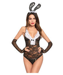China Sexy bunny girl Adjustable sling sexy lingerie Adjustable sling lingerie Chest bow decoration Rabbit Ear Hair Accessories cheap lingerie accessories suppliers