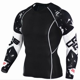 Jerseys Wolf Australia - Mens Compression Shirts 3D Teen Wolf Jerseys Long Sleeve T Shirt Fitness Men Lycra MMA Crossfit T-Shirts Tights Brand Clothing