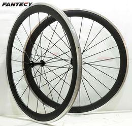 Surface aluminum wheel online shopping - FANTECY Alloy Brake Surface wheels mm depth mm width Aluminum brake road bike carbon wheelset K matte finish with Powerway R13 hub