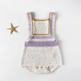 4ae7d68e147f baby clothing European and American Style new baby boy girl solid color  Cotton Knitting sweater baby romper high quality cotton rompers