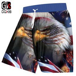 a7133fadad2 OGKB Beach Shorts Women Men Sweat Trunks Print American Flag Eagle 3d Board  Shorts Bathing Suits Quick Dry Bermuda
