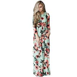 22b3ee3d9 Ropa de mujer Tallas grandes Vestido de maternidad Impreso Vestidos para  mujeres embarazadas Floral largo Vestido largo flojo Boho S-3XL NUEVO