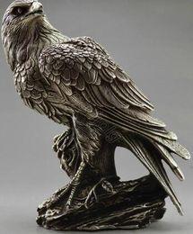 $enCountryForm.capitalKeyWord Australia - Exquisite Chinese Collectible Decorate Old Handwork Tibetan Silver Eagle On Tree Box & Statue