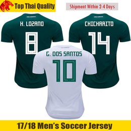 cfbab871e1b 2018 World Cup Mexico Soccer Jerseys LOZANO 2019 Mexico CHICHARITO Jersey  GUARDADO JIMENEZ G.DOS SANTOS Football Shirts LAYUN camisetas