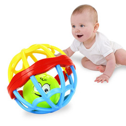 Discount kids toy ball rattle - New Baby Rattle Ball toy Hand soft shaking Bell ball kids Baby Teether Toy Walker Multicolor Activity Educational Toys