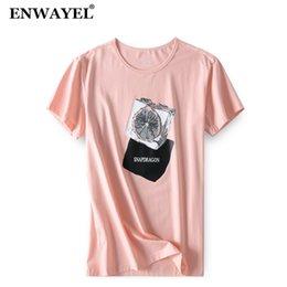Modal Tees Australia - ENWAYEL 2018 Summer Modal Print T Shirt Men Casual Fashion O-Neck Short Sleeves Tshirt Male Tees Clothes Brand Clothing TX502