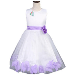 Purple Rose Clothing Canada - Hot. Sleeveless Princess girls children's flower dresses high-grade baby girl dress Rose petals Party clothes