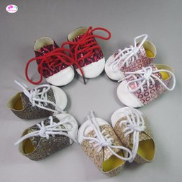 shoes for baby dolls NZ - one pair Fashion sports shoes for dolls fits 18 inches 45cm American Girl Zapf baby born doll accessories