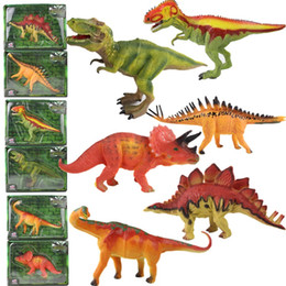 Wood Animal Figured Toys NZ - Simulation Dinosaur Model Triceratops Action Figure Toy Figures Animal Garage Kit Collection For Boy Gifts Hot Sale 8yc WW