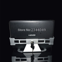 tablet anti theft 2019 - Aluminum Alloy Anti Theft Laptop Display Stand With Security Lock and Key 13-19 inch Laptop Holder Bracket Tablet PC Hol