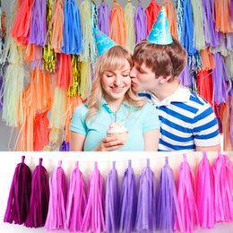 tissue paper tassel diy party garland for baby shower decoration bridal shower wedding bunting pom pom