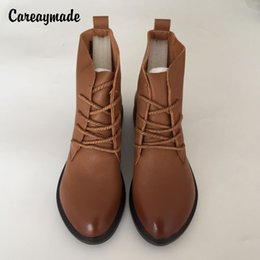 "$enCountryForm.capitalKeyWord Canada - Careaymade-Head layer cowhide pure handmade ankle half short boots ,""Sen female"" casual Martin women's Boots,Real Leather sho"