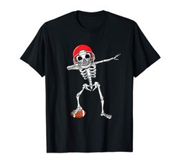 Halloween Costume Football UK - Skeleton Football Halloween Funny Costume T-shirt Cheap Sale 100 % Cotton T Shirt For Boys Tops O - Neck Shirts
