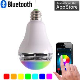 $enCountryForm.capitalKeyWord Australia - Bluetooth Wireless Speaker Smart Led Bulb App control color E27 5W Lamp LED Light with Mini Speaker Newest