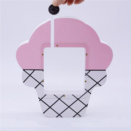 China Ice cream Piggy bank Kids Room Model Table Handicraft INS Child Birthday Gifts Nordic Home Decoration suppliers