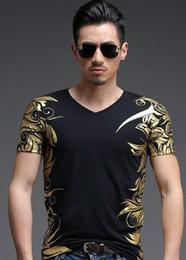 Dress stamps online shopping - fashion Summer chiffon Hot stamping printing Men s Black Red T shirt men short sleeve printing T shirt Tops mens clothing dress