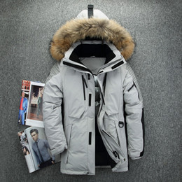 $enCountryForm.capitalKeyWord Canada - Outdoor Down Jackets Mens Down Parkas Winter Coat Hoodies Real Fur Collar Outweat Snow Overcoat Tops Waterproof 2018 Big Size