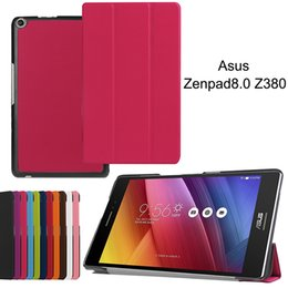 asus fonepad tablet NZ - Smart Cover for Asus Zenpad 8.0 Z380 Z380C Z380KL Tablet PU Leather Protective Skin Shell Folding Flip Case+Stylus