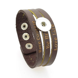 $enCountryForm.capitalKeyWord UK - wholesale cheap hot high quality fashion Genuine Leather bracelet fit 18mm snap button for men and women can adjust jewelry bracelet A79