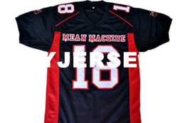 Discount longest yard - wholesale Paul Crewe #18 Mean Machine Longest Yard Football Jersey Black Stitched Custom any number name MEN WOMEN YOUTH