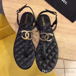 c9a1a80199b06 Marke pinch-Frauen-Sandalen aus Leder-rutschfeste neuen fairy einzelne  Schuhe Mode wild-Wohnung mit offener Zehe-Schnalle römische Sandalen Größe  35-40