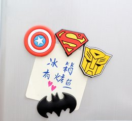 Wholesale 1Pcs Random Novelty Super American Heroes Fridge Magnet Sticker Refrigerator Magnet Home Decor H0099