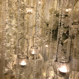 crystal beads acrylic curtains NZ - 30m Garland Acrylic Crystal Wedding Decoration Window Glass Bead Curtains For DIY Party Decal Home Textiles