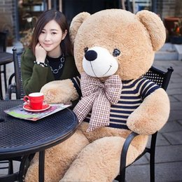 huge bears toy Australia - Lovely huge 120cm Teddy Bear Plush toy with bow Soft Plush Toys for Girls Birthday Gift